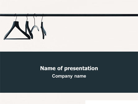 Clothes Hangers PowerPoint Template, 02565, Business Concepts — PoweredTemplate.com