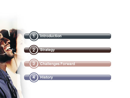 Call Center In Brown Palette PowerPoint Template, Slide 3, 02567, People — PoweredTemplate.com