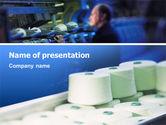 Utilities/Industrial: Weaving Mill PowerPoint Template #02569