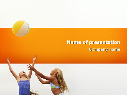 People: Kids Playing PowerPoint Template #02573