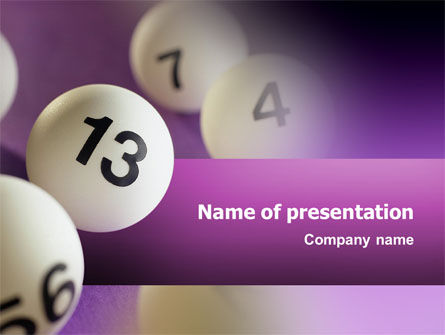 Art & Entertainment: Lotto Ballen PowerPoint Template #02574