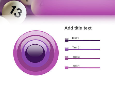 Lotto Balls PowerPoint Template Slide 9