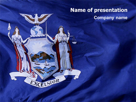 Flag of New York PowerPoint Template, 02575, Flags/International — PoweredTemplate.com