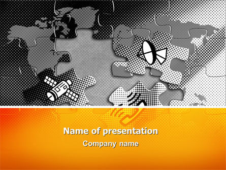 Global: Communication Technology PowerPoint Template #02578