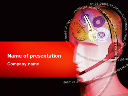 Mechanic Head PowerPoint Template, 02579, Technology and Science — PoweredTemplate.com