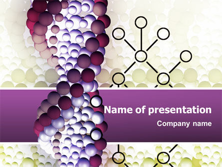 Medical: DNA On A Violet PowerPoint Template #02581