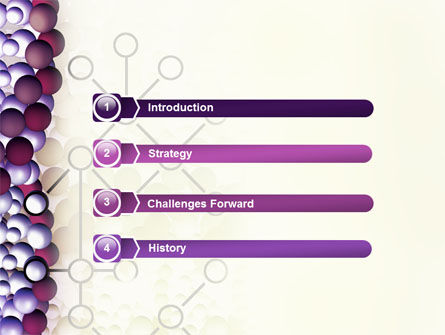 DNA On A Violet PowerPoint Template, Slide 3, 02581, Medical — PoweredTemplate.com