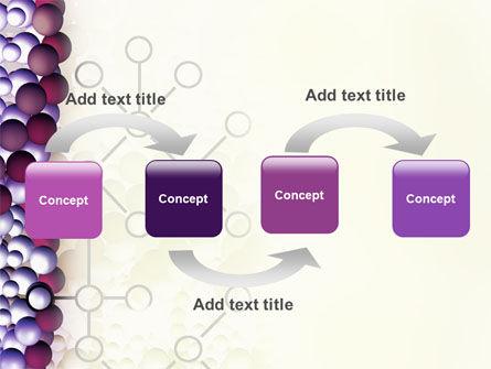 DNA On A Violet PowerPoint Template, Slide 4, 02581, Medical — PoweredTemplate.com