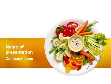 Food & Beverage: Vegetarian Food PowerPoint Template #02582