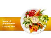 Food & Beverage: Vegetarian Food PowerPoint Template #02582