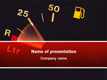 Fuel Gage PowerPoint Template, 02585, Careers/Industry — PoweredTemplate.com