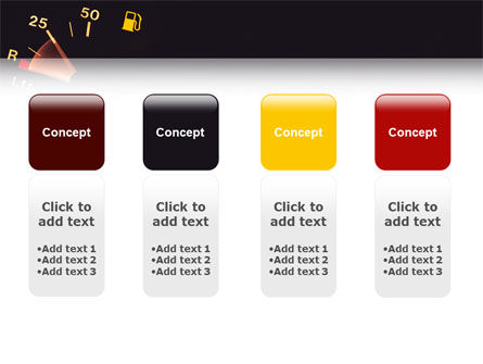 Fuel Gage PowerPoint Template Slide 5