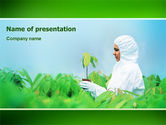Technology and Science: Green Plant Breeding PowerPoint Template #02586