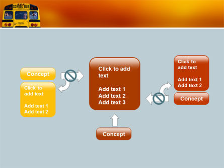 School Bus Aft PowerPoint Template Slide 13