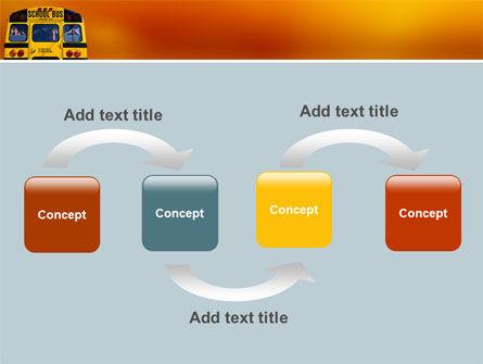 School Bus Aft PowerPoint Template, Slide 4, 02587, Education & Training — PoweredTemplate.com