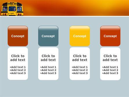 School Bus Aft PowerPoint Template Slide 5