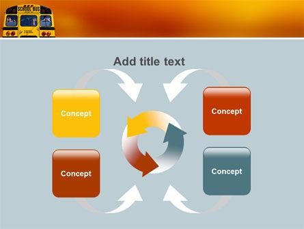 School Bus Aft PowerPoint Template Slide 6