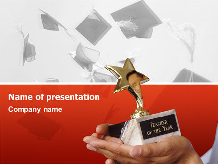 Teacher Of The Year Free Presentation Template For Google