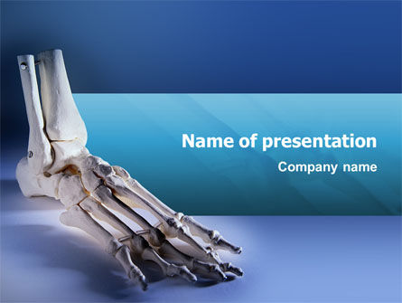 skeletal foot powerpoint template, backgrounds | 02589, Modern powerpoint