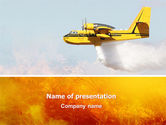 Nature & Environment: Fire In The Forest PowerPoint Template #02590