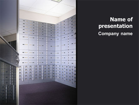 Financial/Accounting: Safe Deposit Boxes PowerPoint Template #02593