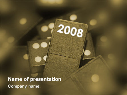 Business Concepts: Year 2008 In Domino PowerPoint Template #02594