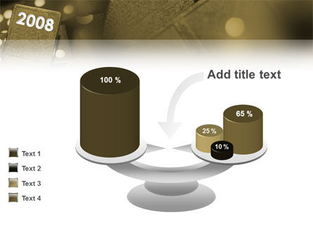 Year 2008 In Domino PowerPoint Template Slide 10