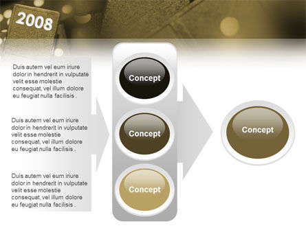 Year 2008 In Domino PowerPoint Template Slide 11