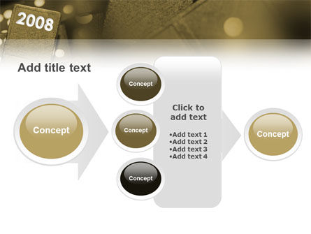 Year 2008 In Domino PowerPoint Template Slide 17