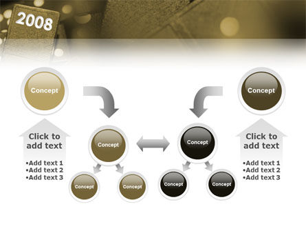 Year 2008 In Domino PowerPoint Template Slide 19