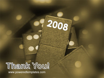 Year 2008 In Domino PowerPoint Template Slide 20
