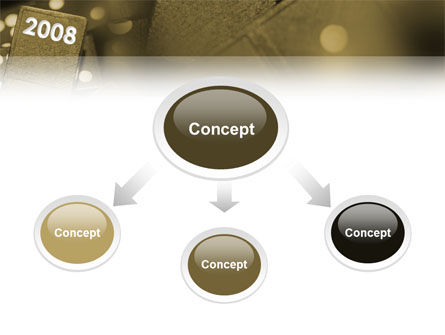 Year 2008 In Domino PowerPoint Template Slide 4