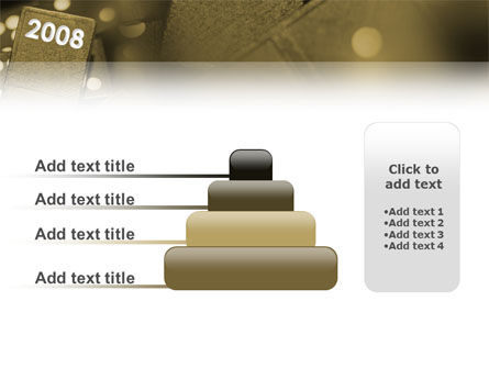 Year 2008 In Domino PowerPoint Template Slide 8