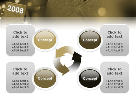 Year 2008 In Domino PowerPoint Template Slide 9