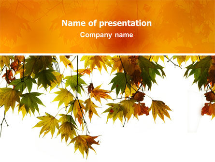 Autumn Mood PowerPoint Template, 02596, Nature & Environment — PoweredTemplate.com