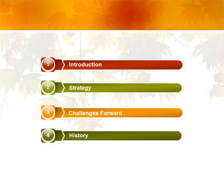 Autumn Mood PowerPoint Template, Slide 3, 02596, Nature & Environment — PoweredTemplate.com