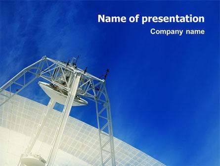 Telecommunication: Modèle PowerPoint de technologie arial de communication #02598