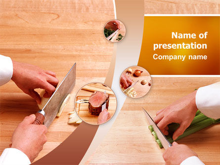 Utilities/Industrial: Kitchen Knives PowerPoint Template #02599