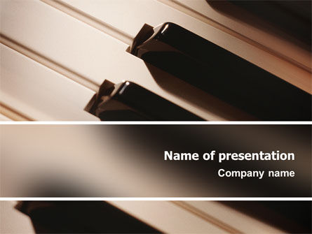 Art & Entertainment: Piano Keys PowerPoint Template #02601