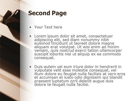 Piano Keys PowerPoint Template, Slide 2, 02601, Art & Entertainment — PoweredTemplate.com