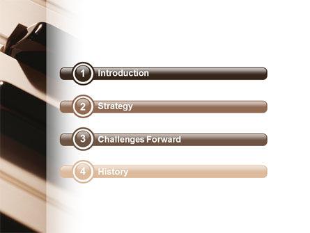 Piano Keys PowerPoint Template, Slide 3, 02601, Art & Entertainment — PoweredTemplate.com
