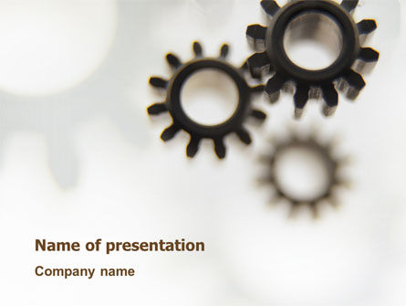 Utilities/Industrial: Gears PowerPoint Template #02605