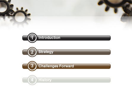 Gears PowerPoint Template, Slide 3, 02605, Utilities/Industrial — PoweredTemplate.com