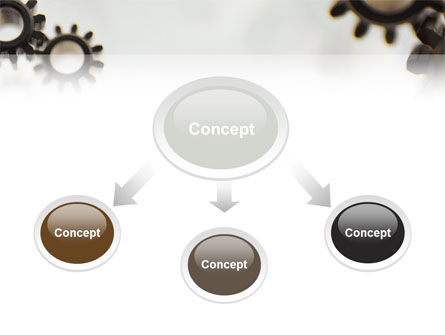 Gears PowerPoint Template, Slide 4, 02605, Utilities/Industrial — PoweredTemplate.com