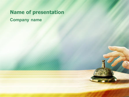 Careers/Industry: Reception Desk PowerPoint Template #02608