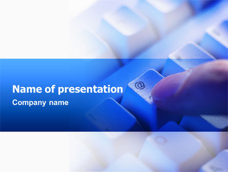 Technology and Science: Email Hosting PowerPoint Template #02609