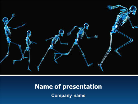 Human Skeleton PowerPoint Template, 02610, Medical — PoweredTemplate.com