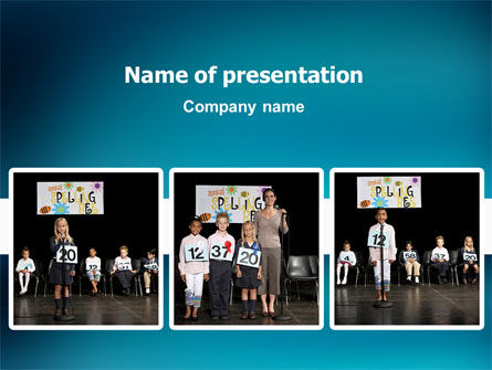 Education & Training: Spelling Competition PowerPoint Template #02614