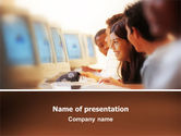 Education & Training: Computer Auditorium PowerPoint Template #02615