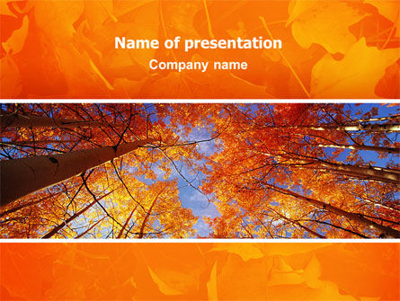 Nature & Environment: Autumn Woods PowerPoint Template #02616